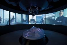 Nesta sala, vários vídeos explicam como o guião influência as localizações escolhidas para os filmes. Foto: Kristopher Grunert/Bergbahnen Sölden