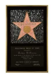Em 1990, Williams recebeu a sua estrela na Calçada da Fama, em Los Angeles. Foto: Sotheby's New York