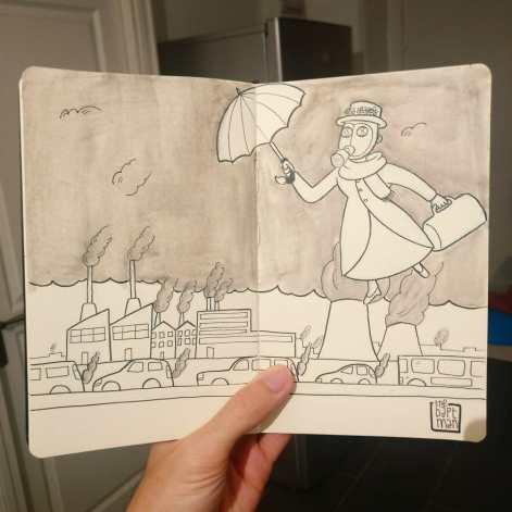 """Mary Poppins"" Desenho: Baptiste Drausin"