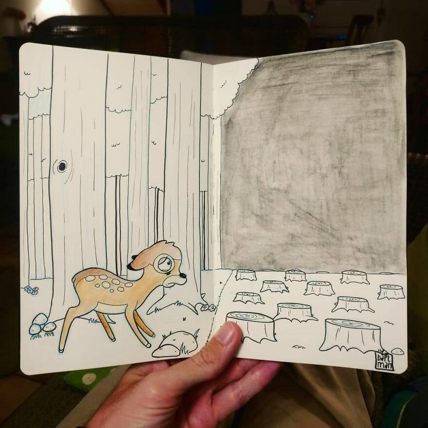 """""""Bambi"""" Desenho: Baptiste Drausin"""