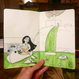 """""""Pocahontas"""" Desenho: Baptiste Drausin"""