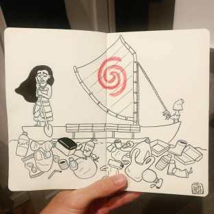 """Vaiana"" Desenho: Baptiste Drausin"