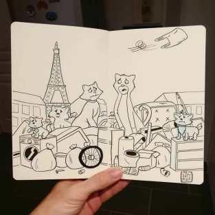 """Aristogatos"" Desenho: Baptiste Drausin"