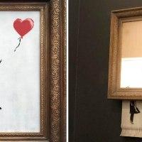 Obra de Banksy autodestrói-se após ser leiloada pela Sotheby's
