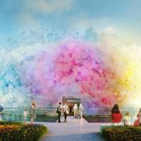 Pavilhão que parece uma nuvem de aquarelas é o finalista para a Expo 2020 no Dubai