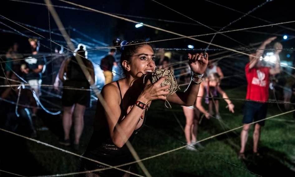 Participantes do festival Sziget, em Budapeste. Foto: Márton Mónus/EPA